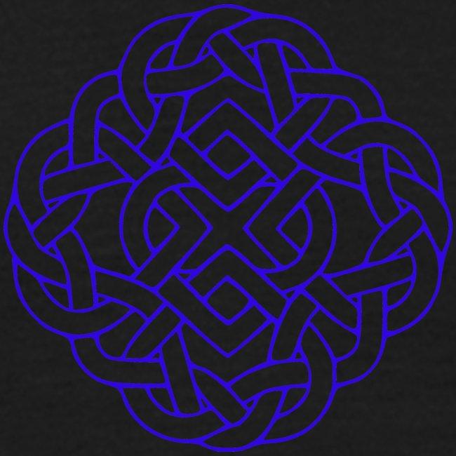 6 heart knot blue