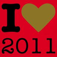 Ontwerp ~ I Love 2011 - goud metallic