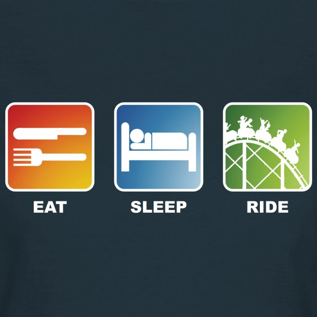Eat, Sleep, Ride! Shirt Damen Navy