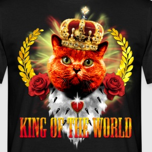Red Cat - King of the World - rote Königs-Katze M - Männer T-Shirt