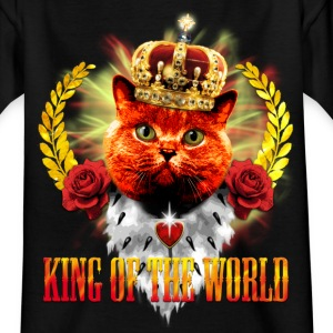Red Cat - King of the World - rote Königs-Katze K - Teenager T-Shirt