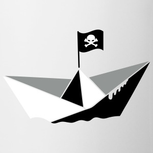 A paper boat with a pirate flag Mugs  - Mug