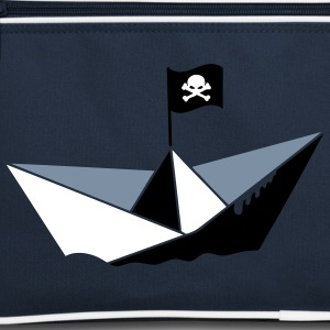 A paper boat with a pirate flag Bags  - Retro Bag