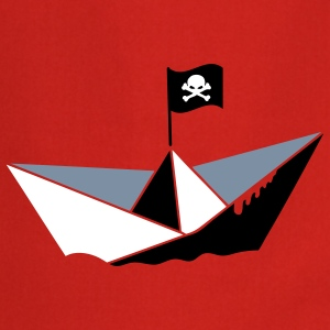 A paper boat with a pirate flag  Aprons - Cooking Apron