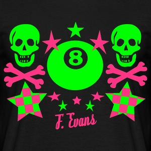Hill Billy Rock, 8 ball, eight ball, stars, Sterne, Skulls, Bones, Knochen, Punk, Emo, Rock, Pop, Disco, Dance, Geschenke - eushirt.com - Men's T-Shirt