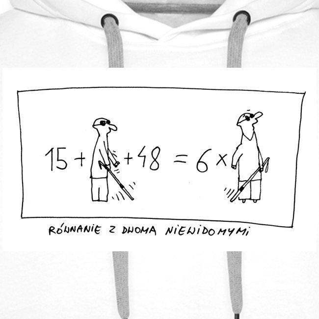 bluza z kapturem z rownaniem