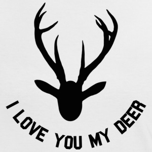 i love you my deer T-Shirts - Frauen Kontrast-T-Shirt