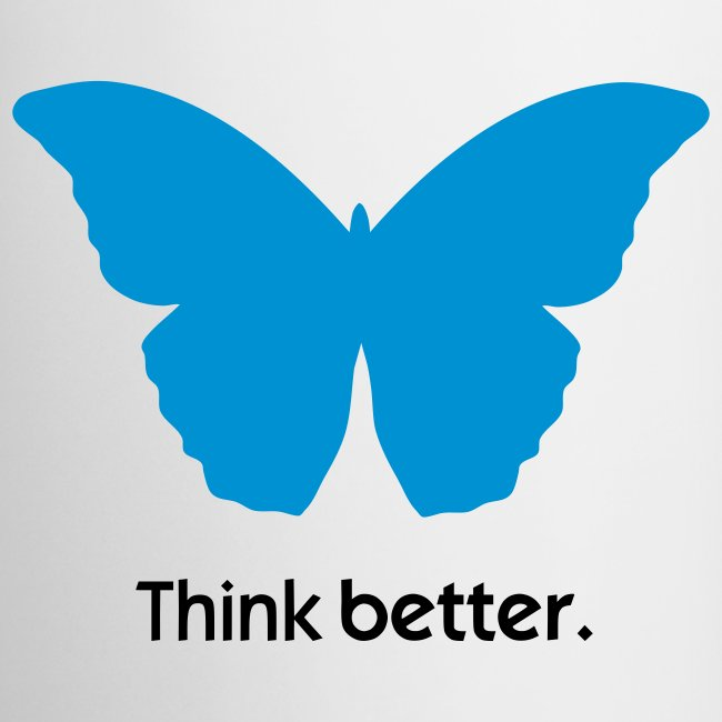 Think Better MorphOS, blau-schwarz