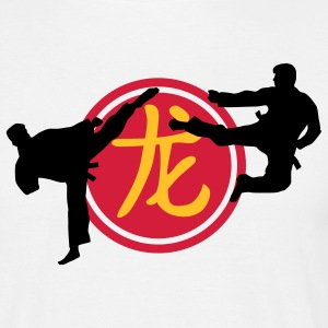 chinese_sign_dragon_karate_a_3c T-shirts - Herre-T-shirt