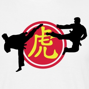 chinese_sign_tiger_karate_a_3c T-shirts - Herre-T-shirt