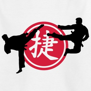 chinese_sign_victory_karate_a_2c Kinder T-Shirts - Teenager T-Shirt