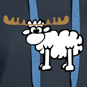 Reindeer - Sheep Hoodies & Sweatshirts - Women's Premium Hoodie