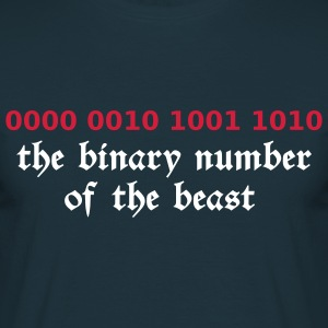 Navy 666 - satan - devil - the binary number of the beast - 29A T-Shirts - Men's T-Shirt