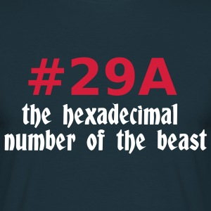 Navy 666 - satan - devil - the hexadecimal  number of the beast - 29A T-Shirts - Men's T-Shirt