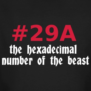 Black 666 - satan - devil - the hexadecimal  number of the beast - 29A T-Shirts - Men's Organic T-shirt