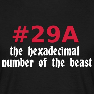 Black 666 - satan - devil - the hexadecimal  number of the beast - 29A T-Shirts - Men's T-Shirt