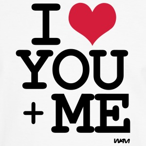 i love you plus me T-shirt - Maglietta Contrast da uomo