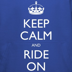 Keep Calm and Ride On Small Kids' Tops - Kids' Premium Hoodie