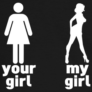 your girl vs my girl (choose DIGITAL DIRECT) T-shirts - Mannen contrastshirt