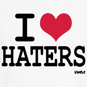 i love haters T-shirts - Mannen contrastshirt