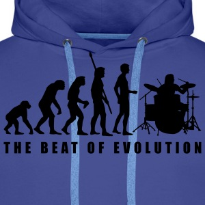 evolution_drummer_c_2c Sweat-shirts - Sweat-shirt à capuche Premium pour hommes