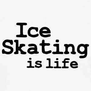 ice skating is life T-shirts - T-shirt contraste Homme