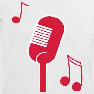 music microphone T-shirts - T-shirt contraste Femme