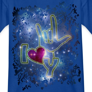 I LOVE YOU / sign language - Gebärdensprache | Kindershirt - Teenager T-Shirt
