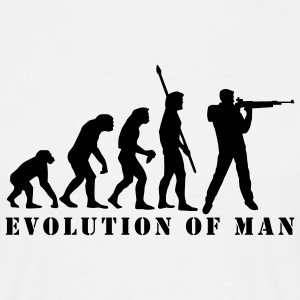 evolution_sportschuetze_a_1c T-Shirts - Men's T-Shirt
