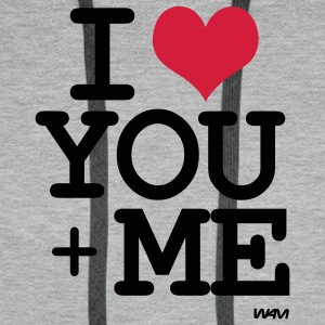 i love you + me Gensere - Premium hettegenser for menn