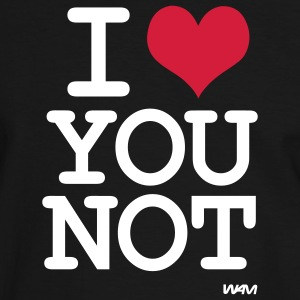 i love you not T-skjorter - Kontrast-T-skjorte for menn
