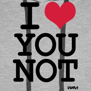 i love you not Gensere - Premium hettegenser for menn