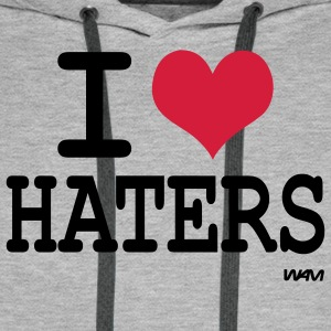 i love haters Gensere - Premium hettegenser for menn