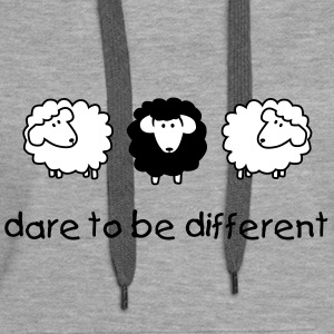 Kapuzenpullover: Dare to be different - Frauen Premium Hoodie