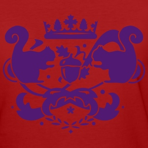 Coat of arms with acorn, squirrel and crown  T-Shirts - Women's Organic T-shirt