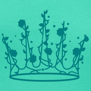 Sleeping Beauty crown of roses and thorns T-Shirts - Women's Scoop Neck T-Shirt