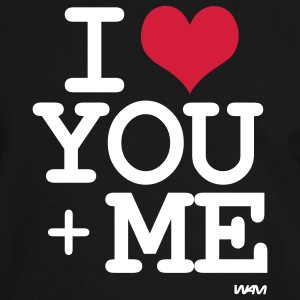 i love you + me T-shirts - Kontrast-T-shirt herr