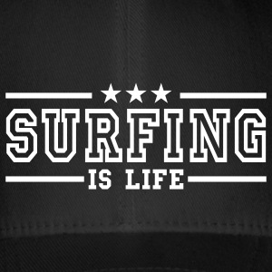 surfing is life deluxe Caps & Hats - Flexfit Baseball Cap