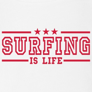surfing is life deluxe Baby Body - Baby Bio-Kurzarm-Body