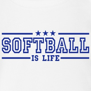 softball is life deluxe Baby Body - Baby Bio-Kurzarm-Body