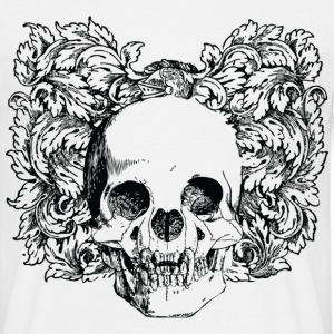 Floral Gothic Skull T-Shirts - Men's T-Shirt