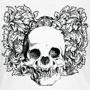 Floral Gothic Skull T-Shirts - Women's T-Shirt