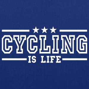 cycling is life deluxe Sacs - Tote Bag