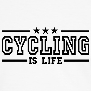 cycling is life deluxe T-shirts - Mannen contrastshirt