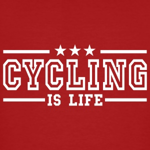 cycling is life deluxe T-shirts - Mannen Bio-T-shirt