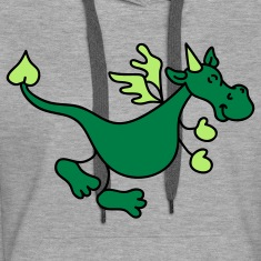 Cute Green Dragon Hoodies & Sweatshirts