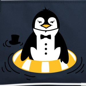 The Penguin with a life ring Bags  - Retro Bag
