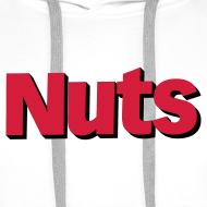 Design ~ Nuts Logo - Men's Hoodie White