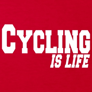 cycling is life Kinder shirts - Kinderen Bio-T-shirt