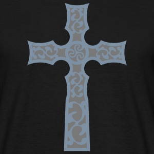 tribal_cross_a_2c T-shirts - Mannen T-shirt